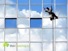 Мытье окон и фасадов быстро